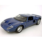 Ford Gt Concept Coupe 1/24 Scale Diecast Metal Model Blue