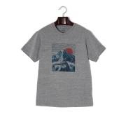 【51%OFF】Winter Sun プリント クルーネック 半袖Tシャツ グレー m ファッション > メンズウエア~~その他トップス