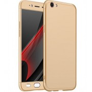 Vinnx 360 Degree Full Body Protection Front & Back Case Cover for Vivo Y55S With Tempered Glass (iPaky Style) - Golden