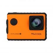 Caméra d action Explorer 2C - Chipset Novatek, capteur Sony, grand angle, enregistrement 4K, écran tactile 2 pouces (orange)