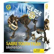 Geoworld Ice Age Excavation Kit 23210810 Sabre Tooth Tiger - Kit de excavacin de esqueleto de dinosaurio, 23 cm [importado de Alemania]