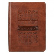 Journal Lux-Leather Be Strong & Courageous Josh 1: 9