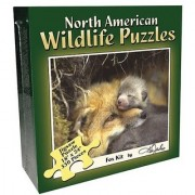 Fox Pup and Raptors of North America 550 Piece Puzzle Set (Set of 2)