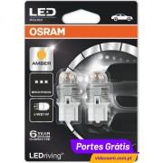 Osram LED Ledriving W21W Laranja / Amber - Premium ( 2 lâmpadas )