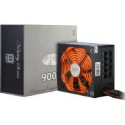 Inter-Tech Coba Nitrox Nobility CN-900 NS - Fuente de alimentación (900W, 115 - 230V, 50 - 60 Hz, 13,5 cm, Superior, Activo) Negro, Naranja