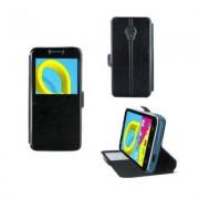 Alcatel One Touch Etui Rabattable Simili Cuir Noir avec Ouverture Ecran pour Alcatel U5