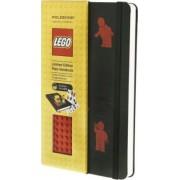 Moleskine Limited Edition Lego Red Brick Plain Large Notebook Black Cover by Moleskine