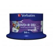 Médium Verbatim DVDR DL 8,5GB 8x Printable 50-cake