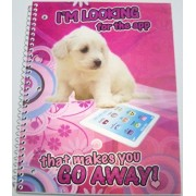 iDimension Poly Lenticular Cover Notebook ~ Im Looking for the App that Makes You Go Away (70 Sheets