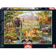 Educa Puzzle Genuine Adăpătoare africană 1500 de piese 16303 colorat