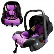 """XOMAX """"Auto Kindersitz / Babysitz / Babywippe und Babytrage (Schwarz/Lila) f�r Babys ab der Geburt bis ca. 12/15 Monate (ECE Klasse 0+)"""""""
