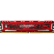 Ballistix Sport LT Memoria da 8 GB, DDR4, 2400 MT/s (PC4-19200), DIMM 288-Pin, Rosso - BLS8G4D240FSE