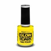 Neon gele nagellak lichtgevend