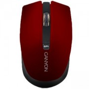 Безжична мишка CANYON Mouse CNS-CMSW5, Wireless, Optical 800/1280 dpi, USB, Червена, CNS-CMSW5R