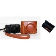 TechCare (TM) Protective Leather Case Bag For Nikon COOLPIX P7800 Digital Camera/Brown