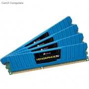 Corsair CML32GX3M4A1600C10B 32GB vengeance Lp with Blue low-profile heatsink Desktop Memory, 8Gb x4 kit