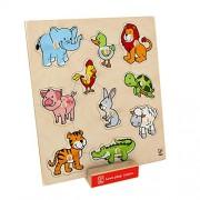 Hape Beleduc E6318 Forme E Animali Friendly Animals Knob Puzzle