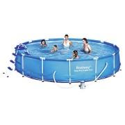 Piscina cu cadru metalic 457x91 cm