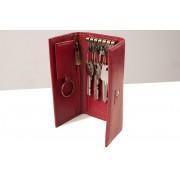 Etui na klucze Puccini P-1626L w kolorze czerwonym - długie