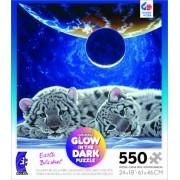 Schimmel Glow in The Dark Earth Blanket 550 Piece Jigsaw Puzzle by Ceaco