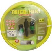 Confezione tubo Tricofort giallo Ø15mm lungo 25mt con accessori Progarden