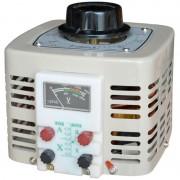 Autotransformator monofazic, 220V - 0...250V - 500W voltmetru analogic