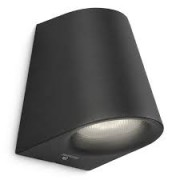 Virga wall lantern black 1x3W SELV