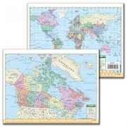 Universal Map Canada and World Notebook Map (Set of 3) 10717