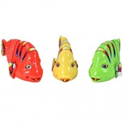 Imported Wind Up Clockwork Swing Fish Kids Toy