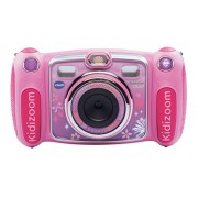 VTech Kidizoom Duo pink Handheld virtual pet - electrónica para niños (Cámara digital, MicroSD (TransFlash), Botones, Rosa, Chica, MP3)