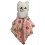 Blankets and Beyond Pink and White Owl Security Blanket Nunu