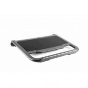 Stand notebook Spacer 15.4' - plastic, fan cu led albastru, 'SPNC-N19'