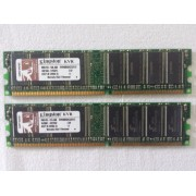 Kingston - 2 x 512 Mo - KVR400X64C3A DDR SDRAM - DIMM 184 broches - PC2-3200