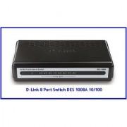 D-Link DES-1008A 8-Port 10/100 Lan Network Switch DES -1008A Dlink