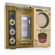 Makeup Set 8658: 1x Shimmer Strips Eye Enhancing Shadow 1x CoverToxTen50 Face Powder 1x Applicator 3pcs Комплект Гримове 8658: 1x Shimmer Strips Подчетаващи Очите Сенки 1x CoverToxTen50 Пудра за Лице 1x Апликатор