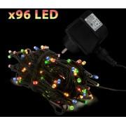 Kültéri karácsonyi fényfüzér 96 db színes LED 55216