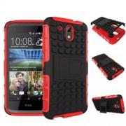 Funda Protector TPU Mixto HTC 526 Rojo / Negro c/pie