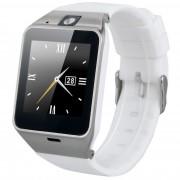 "Ceas Smartwatch cu telefon IMK GV18 A+, camera, Bluetooth, LCD 1.5"", Slot card, Alb"