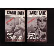 Les Tueuses De Constance (1972) Et La Bombe À L'heure Du Thé (1974) - Claude Rank - Fleuve Noir - Collection Espionnage. Couvertures De M. Gourdon - Editions Originales