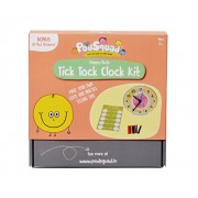 PodSquad Learning Games for Children : Tick Tock Clock Kit - Educational Game - Make Your Own Clock for Kids