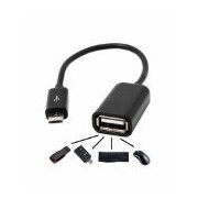 ASCENSION BLACK MICRO USB to FEMALE USB,OTG - ON THE GO CABLE For MICROMAX MOBILE PHONES