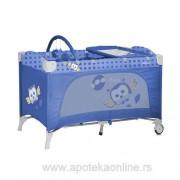 LORELLI BERTONI PRENOSIVI KREVETAC TRAVEL KID BLUE BABY OWLS 2 NIVOA