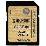 Kingston Digital 64GB SDXC Class 10 UHS-I Flash Card (SDA10/64GBET)
