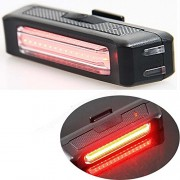 JED Comet USB Rechargable Bicycle Tail Light with 5 Modes- Color-Red with White