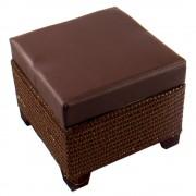 Kicsi bőrhatású ülőkés tároló, barna