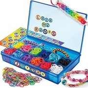 Cra-Z-Art Cra-Z-Loom Ultimate Collector Case with 1800 Rubber Bands 50 S Clips and Alphabet Sticker Sheet