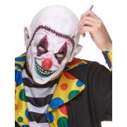 Vegaoo Latexmask clown med sydd skalle One-size