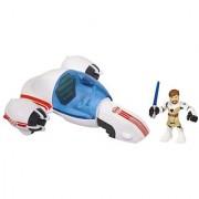 Star Wars Jedi Force Playskool Heroes Freeco Bike With Obi-Wan Kenobi