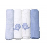 Pamut pelenkák toTs-smarTrike extra méret 4 darab 100% természetes pamut kék
