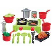 Écoiffier plită pentru bucătărie pentru copii cu accesorii 2649